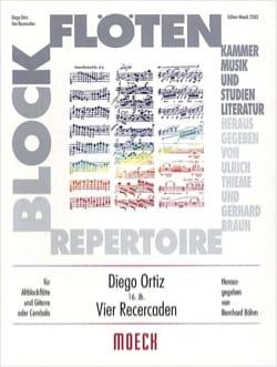 4 Recercaden - flûte à bec guitare - Diego Ortiz - laflutedepan.com