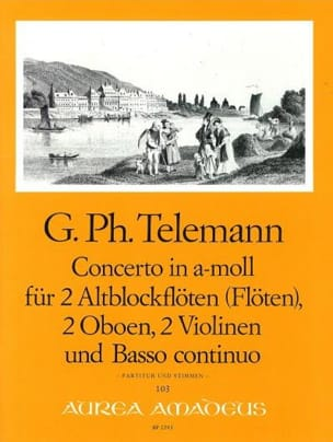 Concerto in a-moll -2 Altblockflöten 2 Oboen 2 Violinen BC - Partitur + Stimmen laflutedepan
