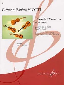 Giovanni Battista Viotti - 1st solo of the Concerto n ° 23 - Partition - di-arezzo.com