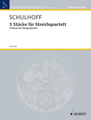 5 Stücke Für Streichquartett - Erwin Schulhoff - laflutedepan.com