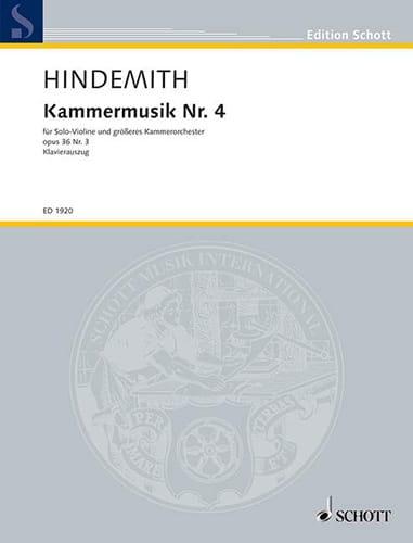 Kammermusik Nr. 4 op. 36 n° 3 - HINDEMITH - laflutedepan.com