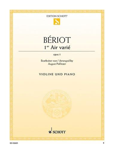 1er Air varié op. 1 - BÉRIOT - Partition - Violon - laflutedepan.com