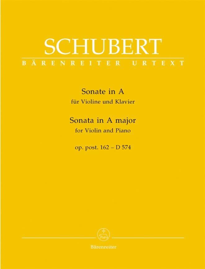 Sonate A-Dur op. posth. 162 - D 574 - SCHUBERT - laflutedepan.com