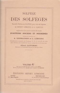 Volume 4b - S/A - Solfège des Solfèges Lavignac Albert laflutedepan