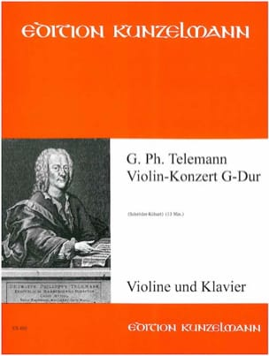 Violin-Konzert G-Dur TELEMANN Partition Violon - laflutedepan