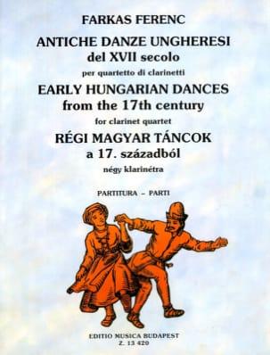 Antiche danze ungheresi - Quartetto clarinetti - Partitura + Parti laflutedepan
