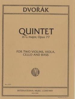 Quintet in G major op. 77 -Parts DVORAK Partition laflutedepan