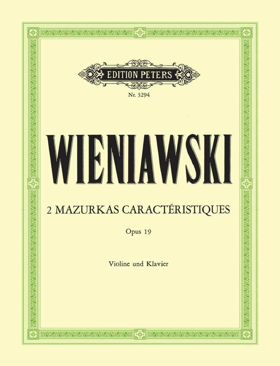 2 Mazurkas caractéristiques op. 19 - WIENAWSKI - laflutedepan.com