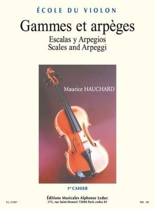 Gammes et Arpèges Volume 1 Maurice Hauchard Partition laflutedepan