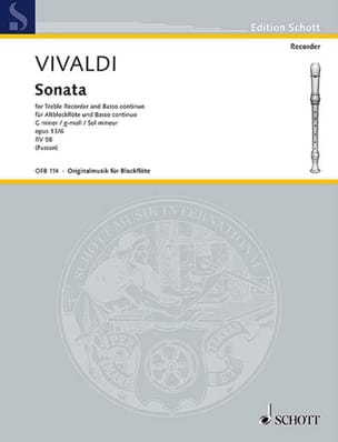 Sonate g-Moll, op. 13a/6 RV 58 -Altblockflöte u. Bc laflutedepan