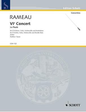 Concert n° 6 La Poule - Partitur RAMEAU Partition laflutedepan