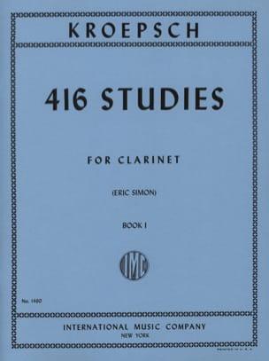 Fritz Kroepsch - 416 Studies - Volume 1 - Partition - di-arezzo.com