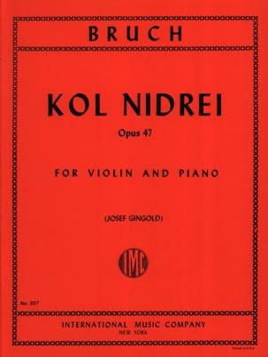 Kol Nidrei op. 47 BRUCH Partition Violon - laflutedepan
