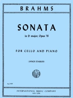 Sonate en ré majeur op. 78 BRAHMS Partition laflutedepan