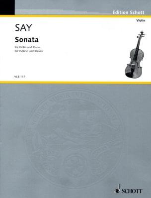 Sonata - Violin piano Fazil Say Partition Violon - laflutedepan