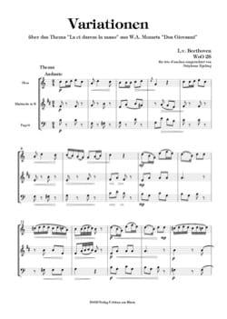 BEETHOVEN - Variations on La Ci Darem la Mano, WoO 28 - Trio of Reeds - Partition - di-arezzo.co.uk