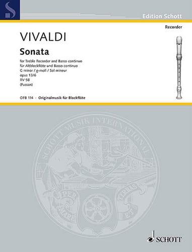 Sonate g-Moll, op. 13a/6 RV 58 -Altblockflöte u. Bc - laflutedepan.com
