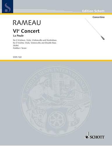Concert n° 6 La Poule - Partitur - RAMEAU - laflutedepan.com