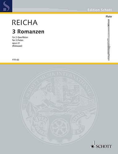 3 Romanzen op. 21 -2 Flöten - REICHA - Partition - laflutedepan.com