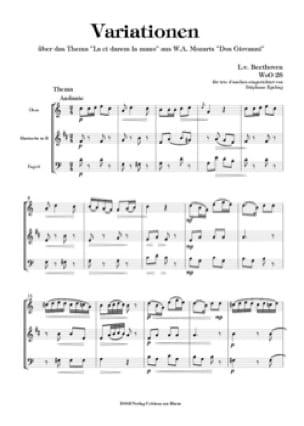 Variations sur La Ci Darem la Mano, WoO 28 - Trio d'Anches - laflutedepan.com