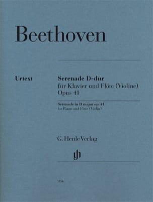 BEETHOVEN - Serenade - Opus 41 for piano and violin flute - Partition - di-arezzo.co.uk