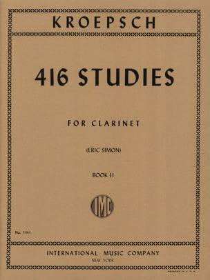 Fritz Kroepsch - 416 Studies - Volume 2 - Partition - di-arezzo.com