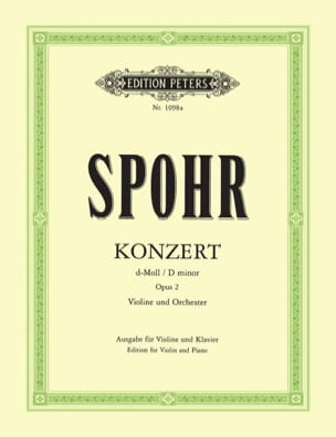 Concerto Violon n° 2 ré mineur op. 2 SPOHR Partition laflutedepan