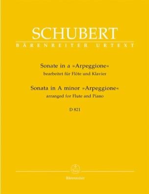 Sonate Arpeggione en LA mineur SCHUBERT Partition laflutedepan