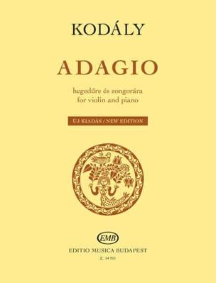 Adagio - Violon et piano - KODALY - Partition - laflutedepan.com