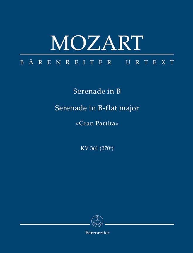 Serenade Gran Partita B-dur KV 361 - MOZART - laflutedepan.com