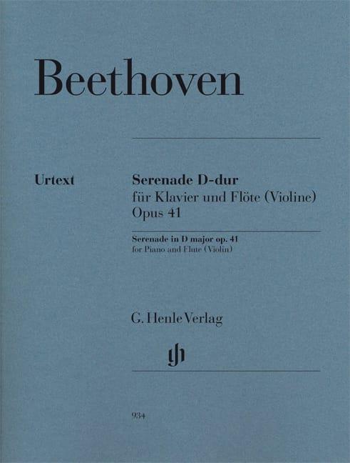 Sérénade - Opus 41 pour piano et flûte violon - laflutedepan.com