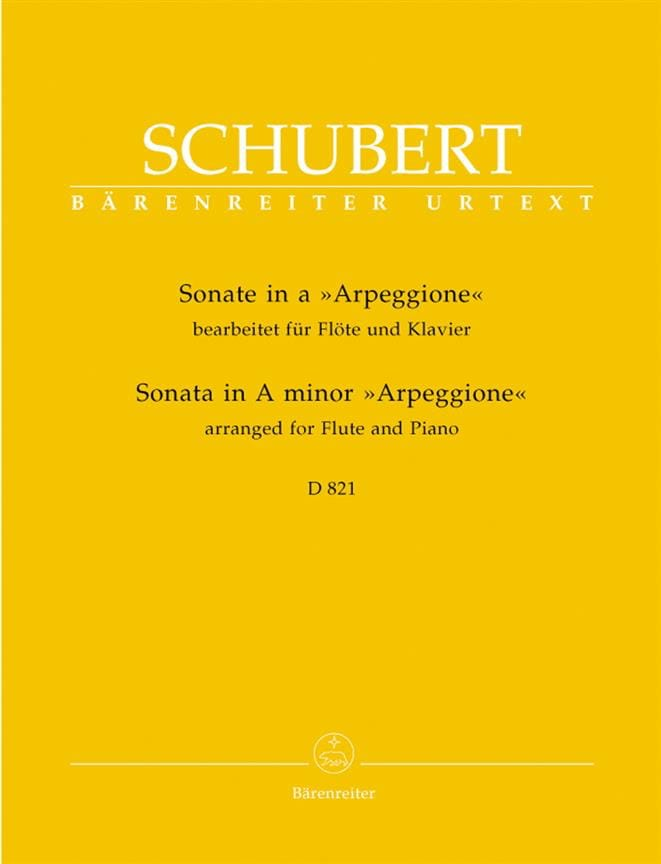 Sonate Arpeggione en LA mineur - SCHUBERT - laflutedepan.com