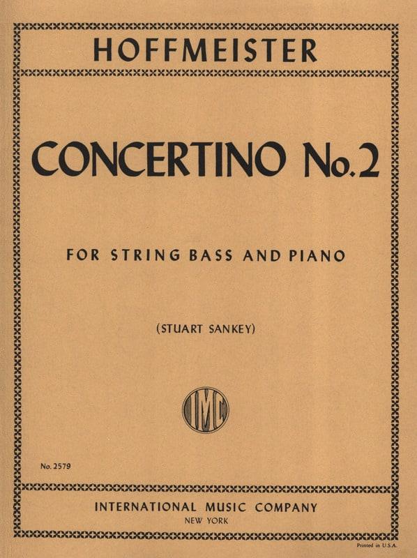 Concertino n° 2 - String bass - HOFFMEISTER - laflutedepan.com