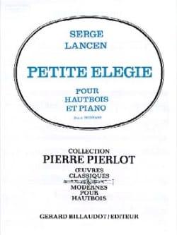 Petite élégie Serge Lancen Partition Hautbois - laflutedepan