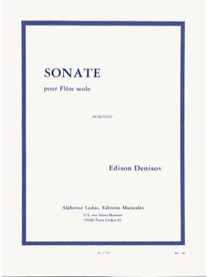 Sonate - Flûte seule Edison Denisov Partition laflutedepan