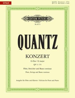 Konzert G-Dur QV 5: 174 - Flöte Klavier QUANTZ Partition laflutedepan