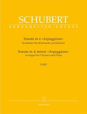 Sonate In A-Moll Arpeggione D.821 SCHUBERT Partition laflutedepan