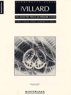 6 Minutes Pour le 1er Cycle Fabrice Villard Partition laflutedepan