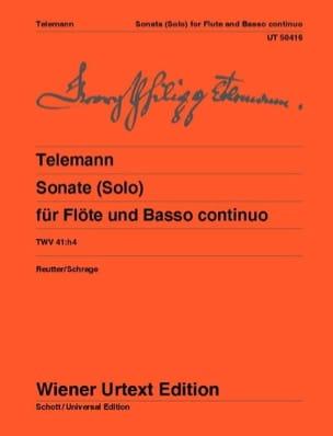 Sonate pour Flûte et Basse Continue TWV 41 : h4 TELEMANN laflutedepan