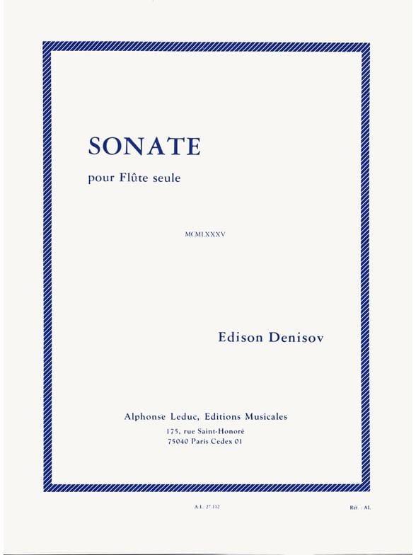 Sonate - Flûte seule - Edison Denisov - Partition - laflutedepan.com
