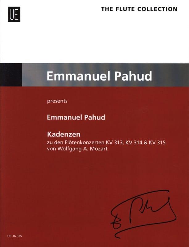 Cadences - Flûte - Emmanuel Pahud - Partition - laflutedepan.com