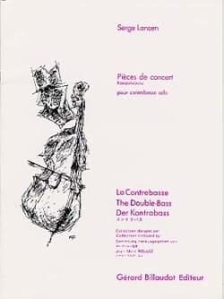 Pièces de Concert Serge Lancen Partition Contrebasse - laflutedepan