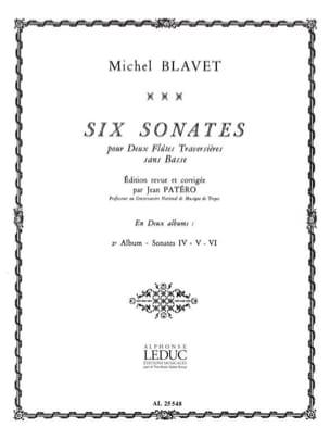 6 Sonates - Volume 2 - 2 Flûtes Michel Blavet Partition laflutedepan