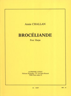 Brocéliande - Annie Challan - Partition - Harpe - laflutedepan.be