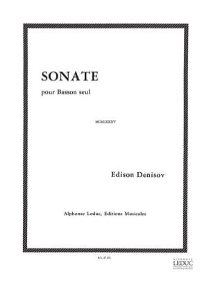 Sonate -Basson seul Edison Denisov Partition Basson - laflutedepan
