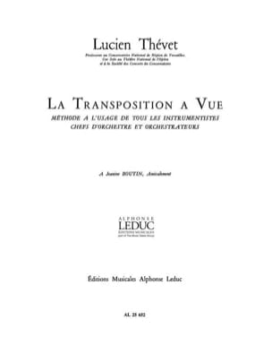 Lucien Thevet - View Transposition - Partition - di-arezzo.co.uk