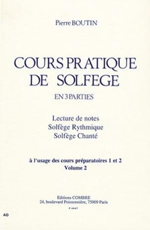 Cours Pratique de Solfège - Volume 2 Pierre Boutin laflutedepan