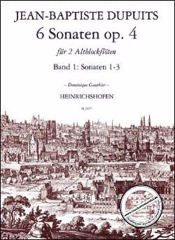 6 Sonates Opus 4 Volume 1 Jean-Baptiste Dupuits Partition laflutedepan