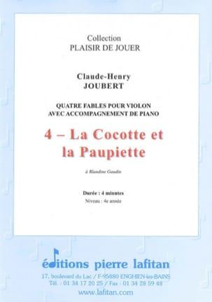 la Cocotte et la Paupiette Claude-Henry Joubert Partition laflutedepan