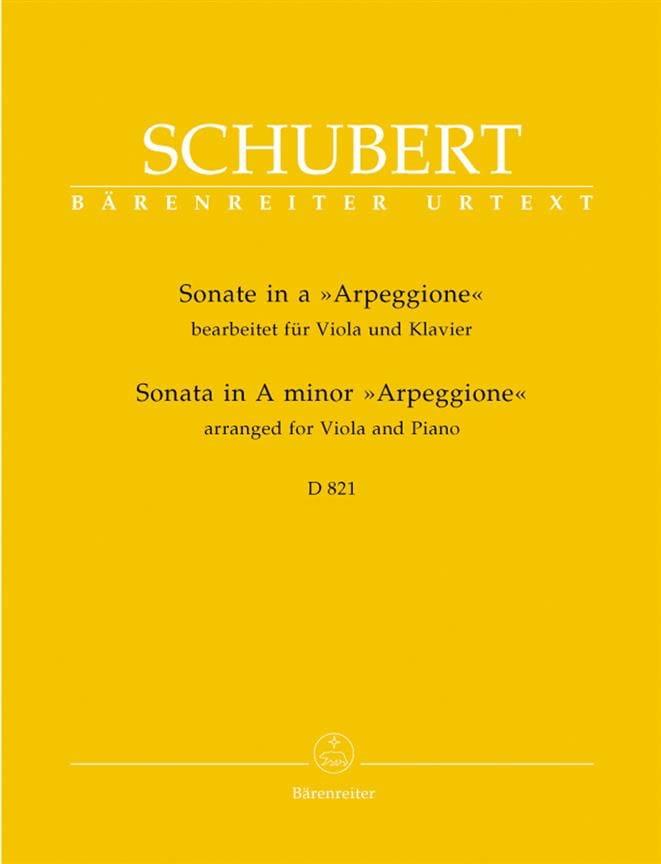 Sonate en la Mineur Arpeggione D 821 - Alto et piano - laflutedepan.com